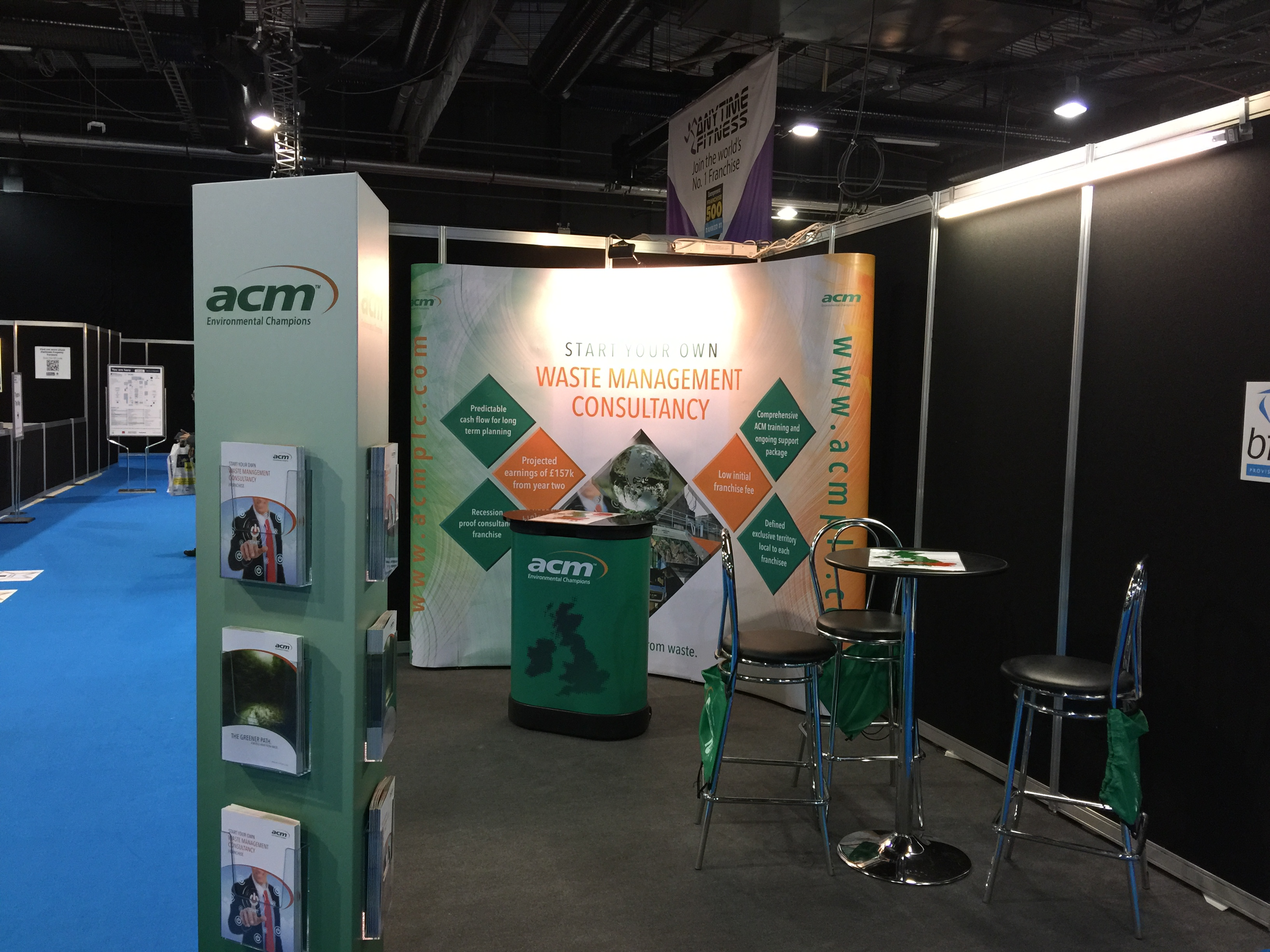 Exhibition Stand Logo : Exhibition stand and promotional merchandise helps client