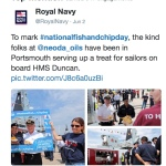 Navy tweet