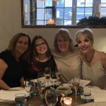 Louise, far left, pictured with Sarah, Jo and Erica, our wonderful friend and designer from Bella Creative